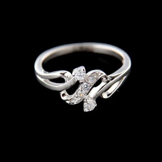 Amiatex Stříbrný prsten 15202, 52