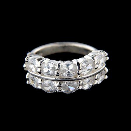 Amiatex Ezüst gyűrű 15231 + Nőin zokni Gatta Calzino Strech, 51