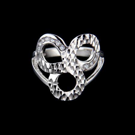 Amiatex Ezüst gyűrű 15245, 54