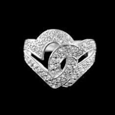 Amiatex Strieborný prsteň 15383 + Nadkolienky Sophia 2pack visone