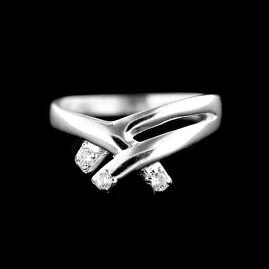 Amiatex Stříbrný prsten 15434 + Ponožky Gatta Calzino Strech, 56