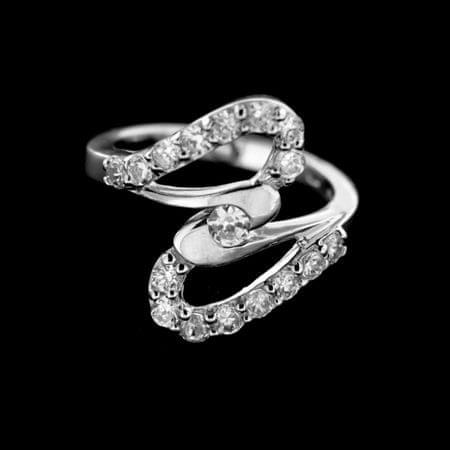 Amiatex Ezüst gyűrű 14918 + Nőin zokni Gatta Calzino Strech, 54