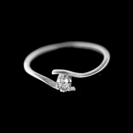 Amiatex Strieborný prsteň 15403, 54