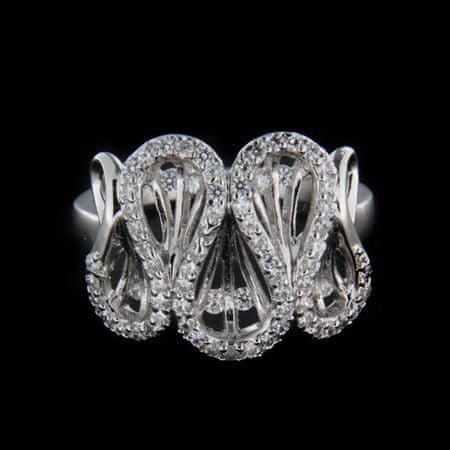 Amiatex Ezüst gyűrű 15615, 55