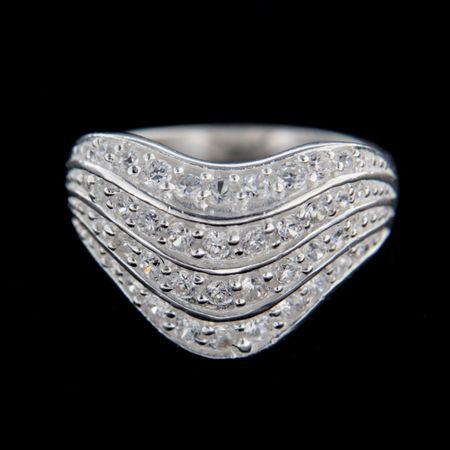 Amiatex Ezüst gyűrű 14855, 53
