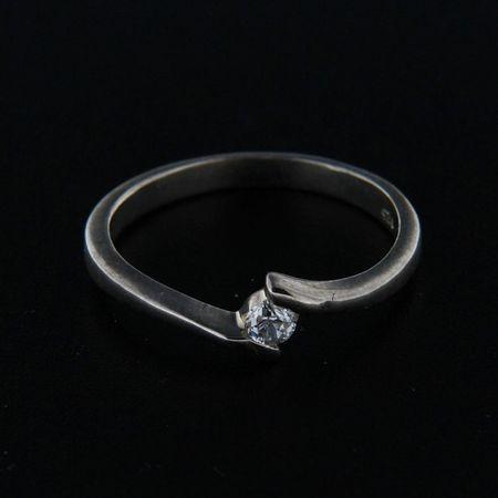 Amiatex Ezüst gyűrű 14861 + Nőin zokni Gatta Calzino Strech, 57