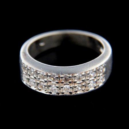 Amiatex Ezüst gyűrű 14856 + Nőin zokni Gatta Calzino Strech, 55