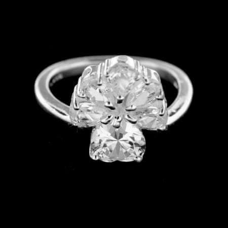 Amiatex Ezüst gyűrű 14943 + Nőin zokni Sophia 2pack visone, 51