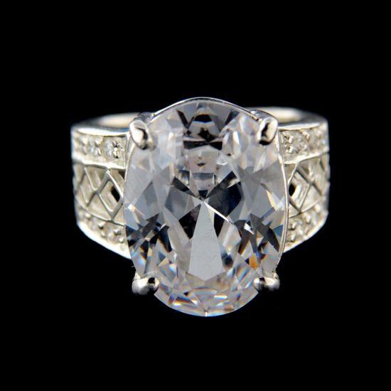 Amiatex Strieborný prsteň 34329, 53