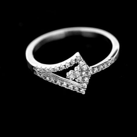 Amiatex Ezüst gyűrű 34324, 52
