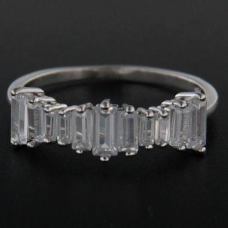 Amiatex Ezüst gyűrű 48840, 58