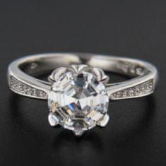 Amiatex Stříbrný prsten 51633 + Ponožky Sophia 2pack visone