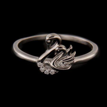 Amiatex Ezüst gyűrű 58333 + Nőin zokni Gatta Calzino Strech, 55