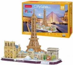 CubicFun Puzzle 114 db 3D Puzzle - Paris - Difficulty: 4/8