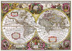 Trefl Historická mapa sveta 1630 2 000 dielikov