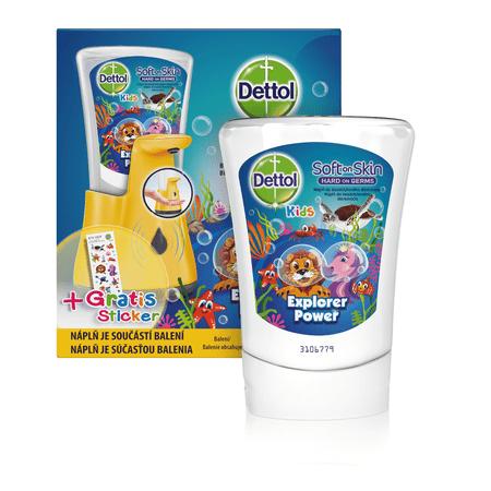 Dettol Kids ZOO Érintés nélküli szappan adagoló Kalandor 250 ml