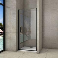 H K Sprchové dveře jednokřídlé BLACK SAFIR D1