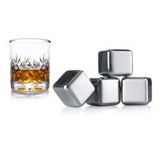 VACUVIN 18603606 Oceľové kocky na ľad do whisky