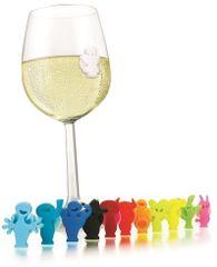 Vacuvin 1886060 12-dílná sada označovačů na sklenice Party People