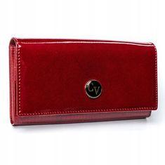 4U Cavaldi Dámská luxusní lakovaná peněženka Cloae, červená