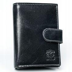 Always Wild Kožená pánská peněženka Bean, černá