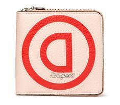 Desigual Damski beżowy portfel Logo Patch Zip Squar 20SAYP34