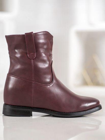 Dámske členkové topánky 61147 + Nadkolienky Sophia 2pack visone, odtiene červenej, 37