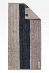 JOOP! Osuška Lines 80x150 cm, černá-hnědá