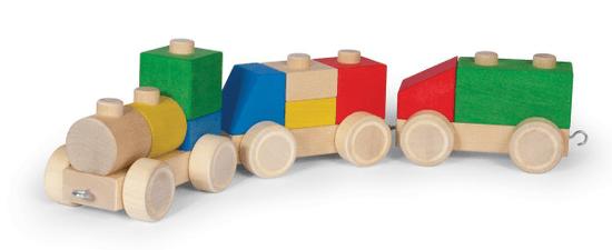 VARIS Toys Prepojovacie kocky - Vláčik