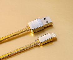REMAX AA-1081 kabel Gold iPhone Dátový USB kábel pre iPhone, zlatý