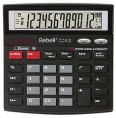 Rebell kalkulator CC512, czarny (RE-CC512 BX)