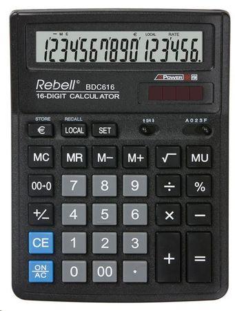 Rebell kalkulator BDC616, czarny (RE-BDC616 BX)