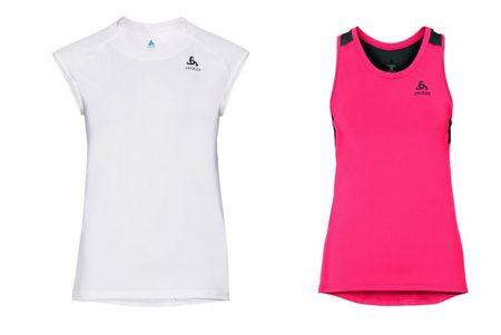 ODLO set majic Ceramicool, ženski, S, bela/roza