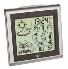 TFA 35.1145.54 Domowa stacja meteorologiczna LARGO zaw. Nadajnik 30.3221.02 srebrny / szary.