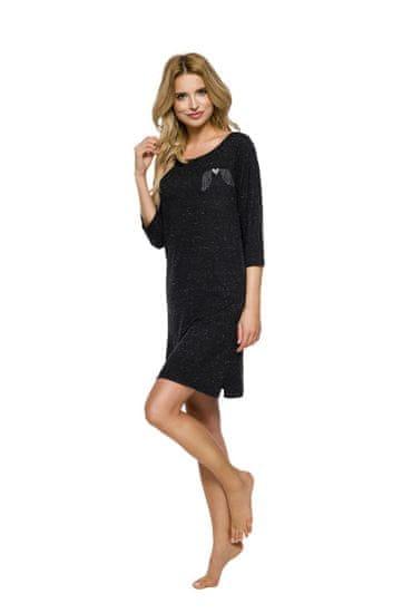 TARO Dlouhá dámská noční košile 2320 ANGEL S-XL 2019/2020 J černá S