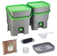 Skaza Bokashi Organko set, sivo zelen