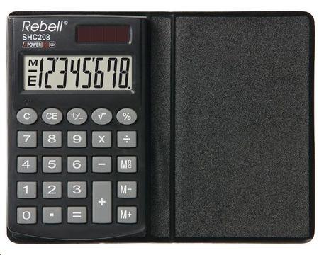 Rebell SHC208 kalkulator, črn (RE-SHC208 BX)