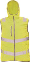 Cerva Pánska zateplená reflexná vesta Montrose žltá S
