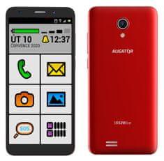 Aligator Telefon S5520 Duo Senior, 1GB/16GB, czerwony