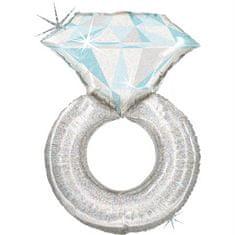 Grabo Nafukovací balónek prstýnek s diamantem 97 cm