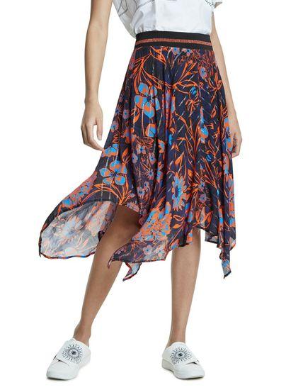 Desigual dámska sukňa Itaca 20SWFW08 S tmavomodrá