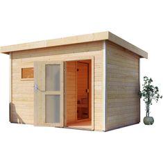 KARIBU finská sauna KARIBU SKROLLAN 3 (86308) s předsíní