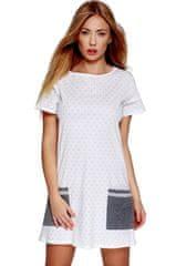 Sensis Dámská noční košilka Lou bílo-šedá - Sensis