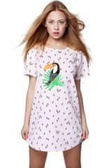 Sensis Dámská noční košilka Tukan růžová - Sensis
