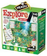 Headu Puzzle Explore s magickým světlem: Prozkoumej prales 70 dílků