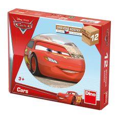 Dino CARS VE SVĚTĚ 12 Dřevěné kostky