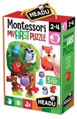 Headu Moje první puzzle Les s 5 dřevěnými figurkami (Montessori)