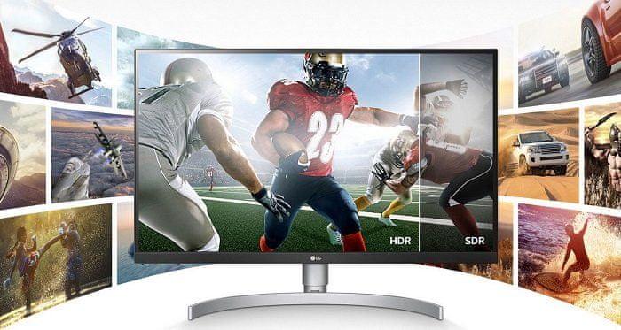 herní monitor LG 27UL850 (27UL850-W.AEU) HDR SDR high dynamic contrast