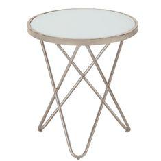 Krog klubska miza, visoka, bela
