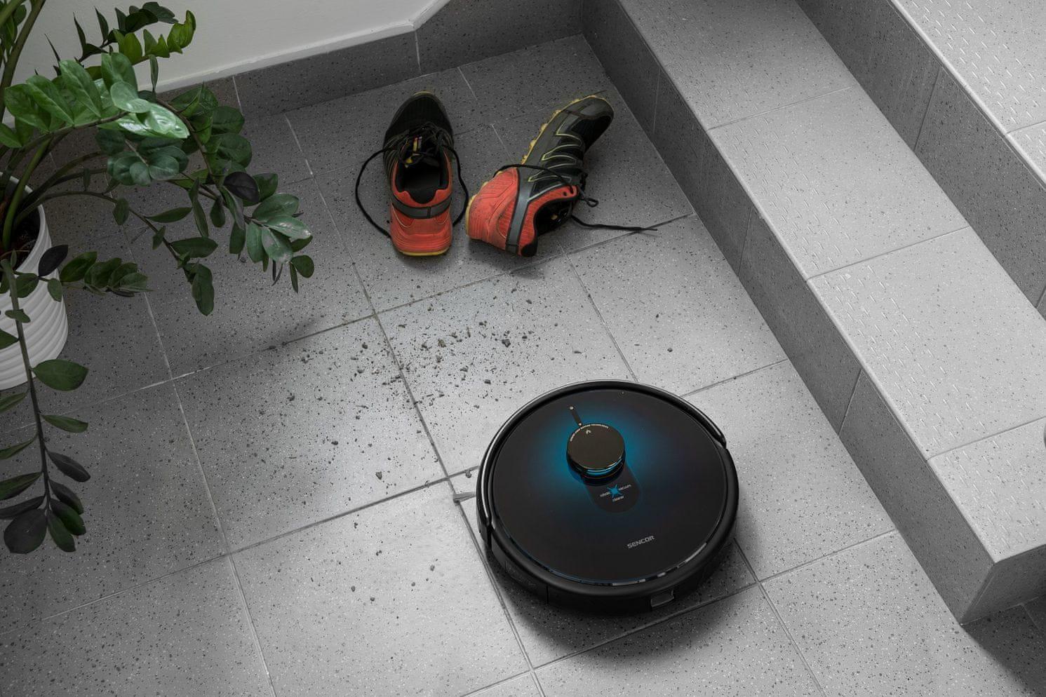 SENCOR SRV 9250BK Robotický Vysavač 2v1 LASER WiFi